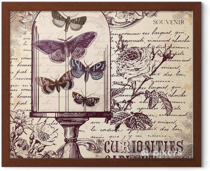 Poster en cadre Le Cabinet Curiosités - Styles