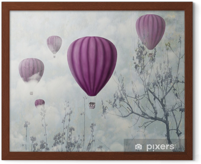 Pink Balloons Framed Poster - iStaging