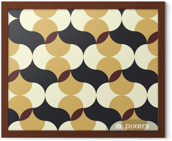 abstract retro geometric pattern Framed Poster - Backgrounds