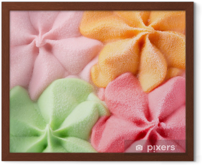Colorful Ice Cream Background. Various Flavours Framed Poster - Meals