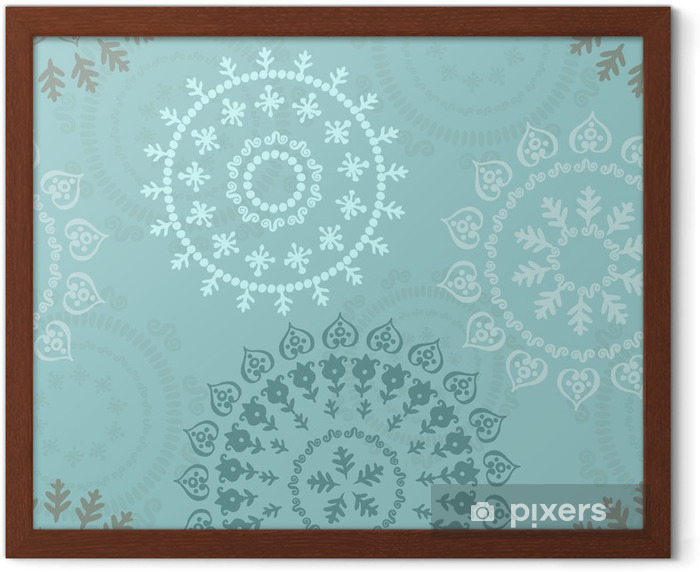 Abstract oriental pattern Framed Poster - Styles