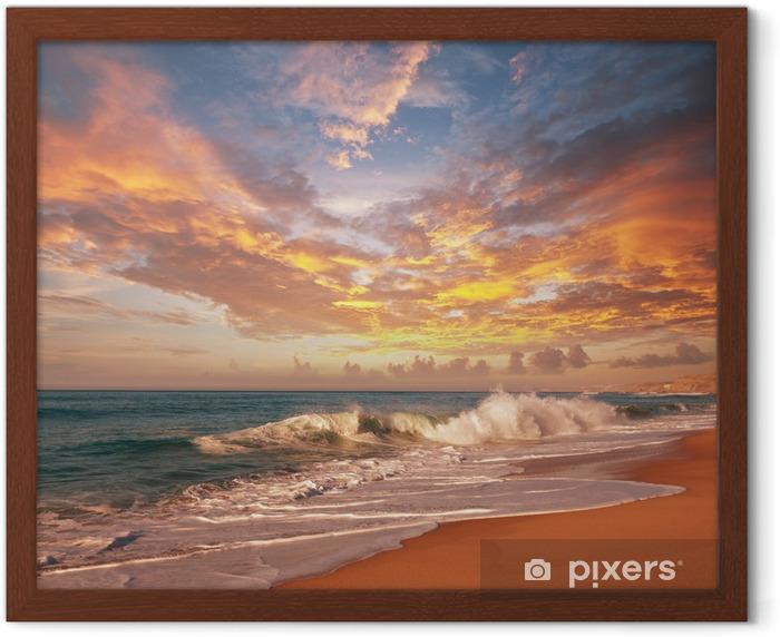 Poster en cadre Sea sunset - Thèmes