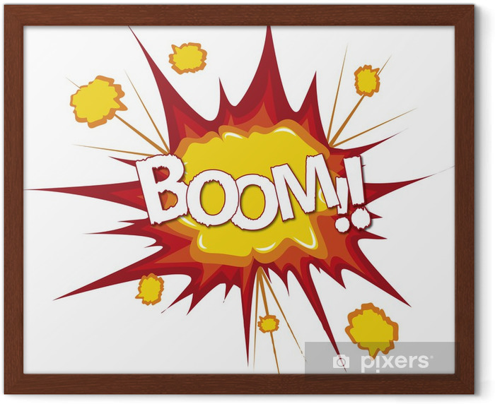 Boom bang comic cartoon explosion Framed Poster - Movies and TV series