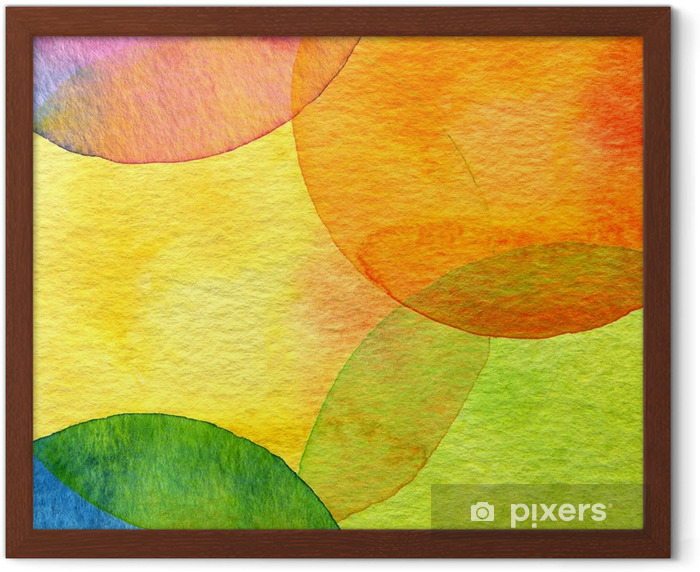 Abstract watercolor circle painted background Framed Poster - Styles