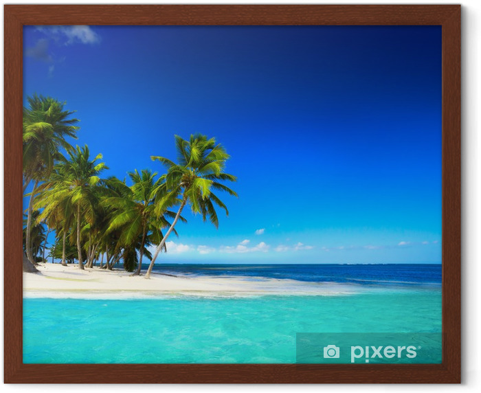 Art beautiful seaside view background Framed Poster - Styles
