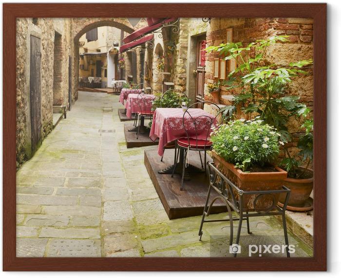 Poster en cadre Restaurant à Toscane - Repas