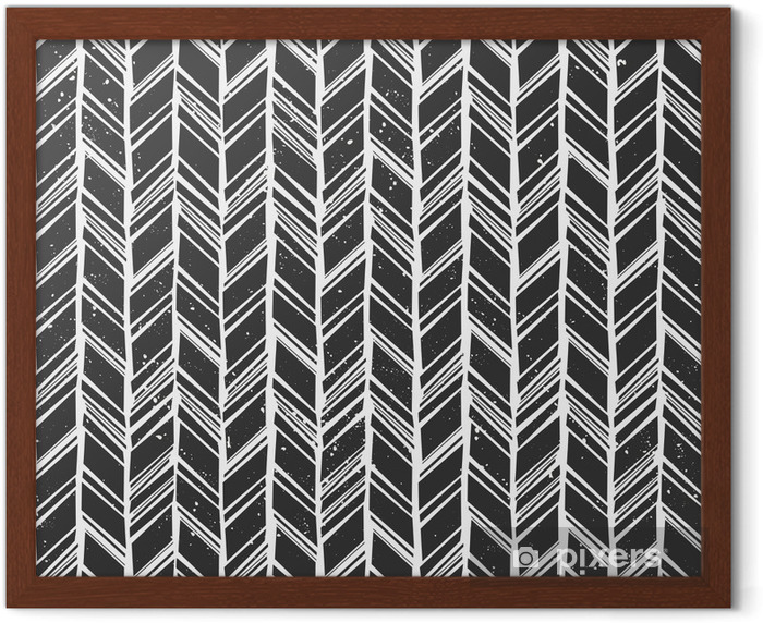 Seamless Chevron Background Framed Poster - Styles