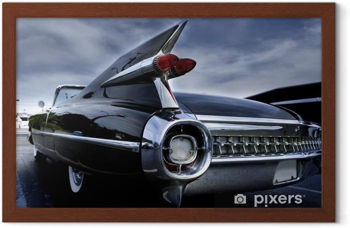 Ingelijste Poster Achterlicht van een klassieke auto - Thema's