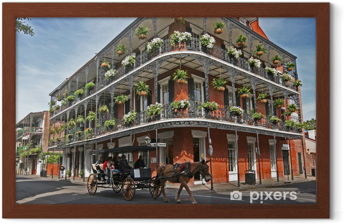 french quarter carriage Framed Poster - Monuments