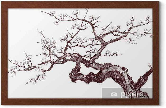 Poster en cadre Cerisier - Styles