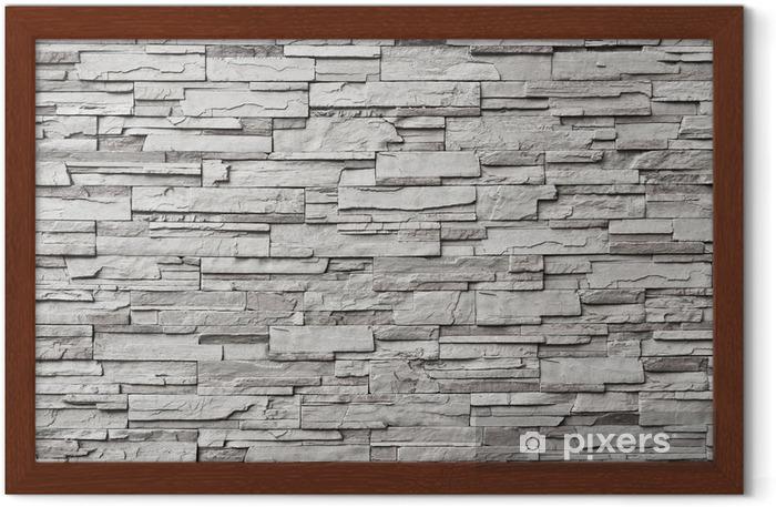 Ingelijste Poster De grijze moderne stenen muur - Stijlen