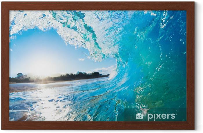 Blue Ocean Wave Framed Poster - Themes