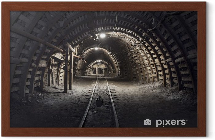 Underground tunnel in the coal mine Framed Poster - Themes