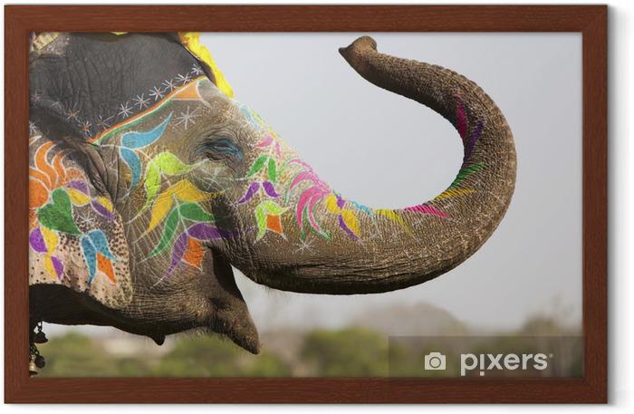 Poster en cadre Éléphant décoré au festival éléphant à Jaipur - Asie