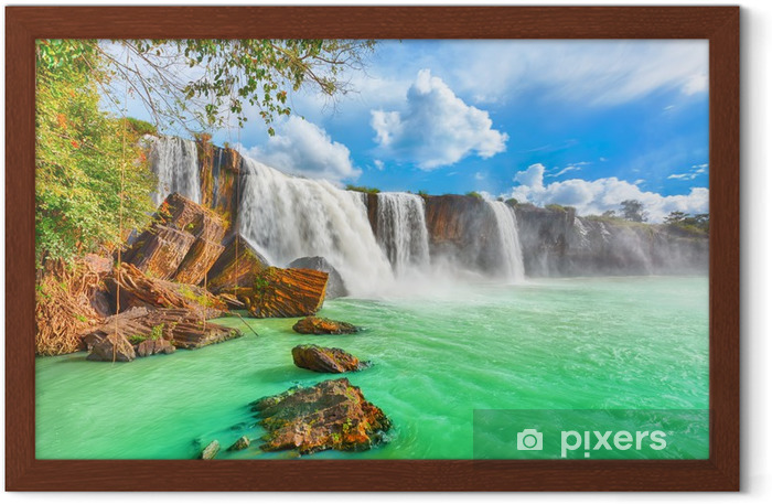 Dry Nur waterfall Framed Poster - Themes