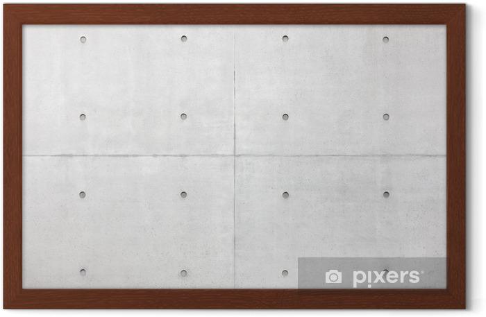Poster in Cornice Astratto, muro di cemento grigio - Stili