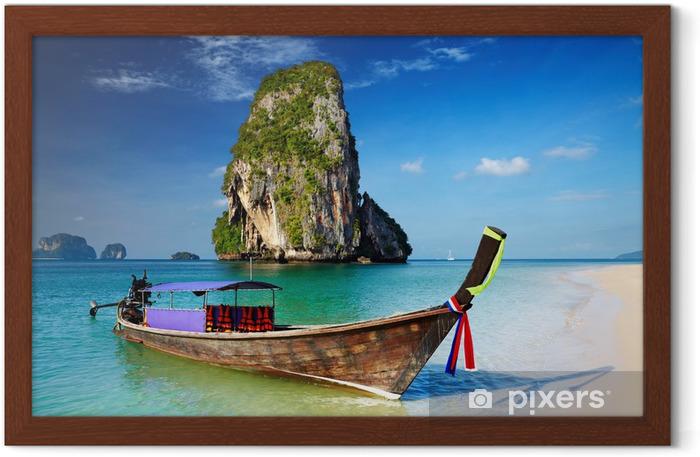Plakat w ramie Tropikalna plaża, Tajlandia - Azja