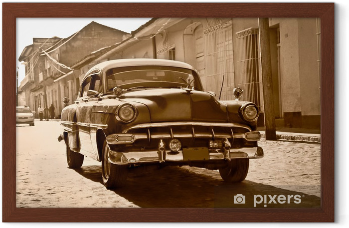 Classic Chevrolet in Trinidad, Cuba Framed Poster - Themes