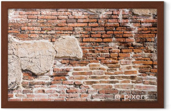 Plakat w ramie Starożytny mur fragment - Tematy
