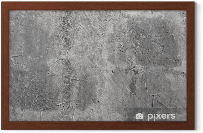 Poster en cadre Mur de beton - Thèmes