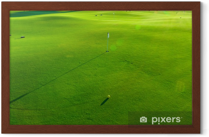 Holes and bunkers on the golf course Framed Poster - Golf