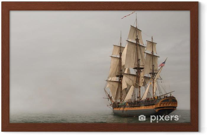 Plakat w ramie Rocznik fregaty żeglowanie w mgły - Tematy