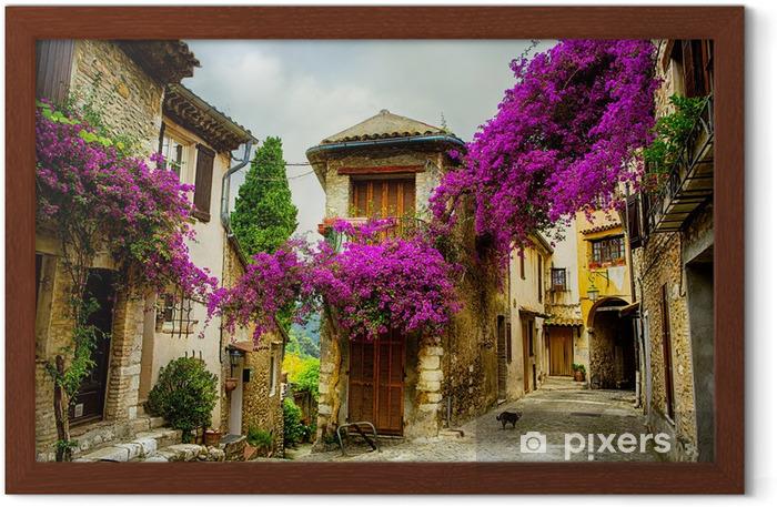 Poster en cadre Art magnifique vieille ville de Provence - Thèmes