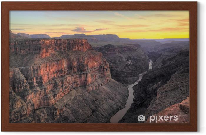 HDR, Toroweap Point Sunset, Grand Canyon National Park Framed Poster - Deserts