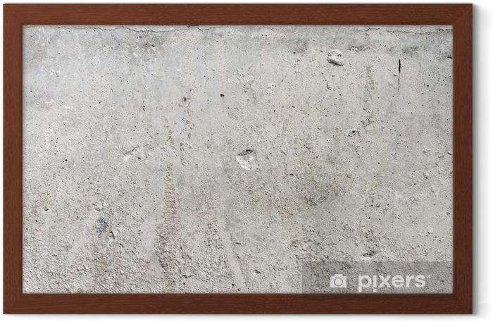 Plakat w ramie Wysoka Grunge Rozdzielczość ściana betonu - Style