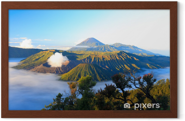 Sunrise. Bromo volcano in Indonesia Framed Poster - Asia