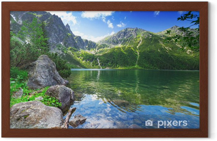 Eye of the Sea lake in Tatra mountains, Poland Framed Poster - Themes