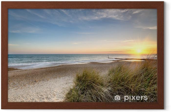 Plakat w ramie Wschód słońca na dzikiej plaży - Tematy