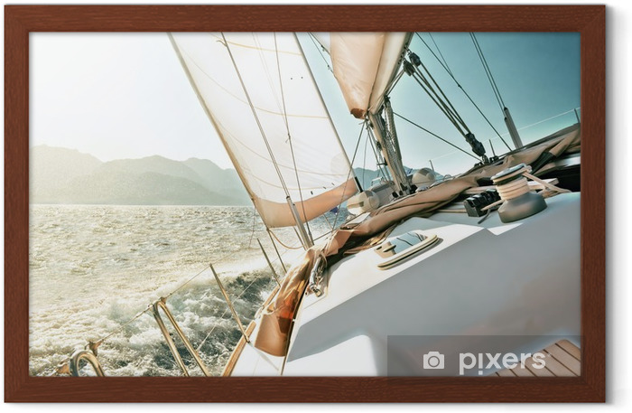 Yacht sailing Framed Poster - Destinations