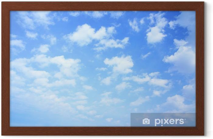 Ingelijste Poster Lucht en de wolken - iStaging