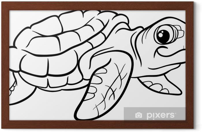 Deniz Kaplumbaga Boyama Kitabi Cerceveli Poster Pixers Haydi