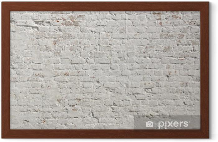 Poster en cadre Blanc grunge fond mur de briques - Styles