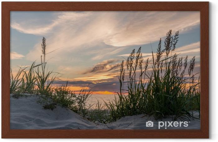 Plakat w ramie Zachód słońca na plaży darss na Bałtyku, Pomorze - iStaging