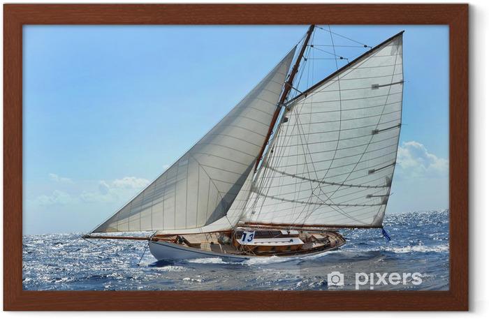 Gerahmtes Poster Barca a vela - Wassersport