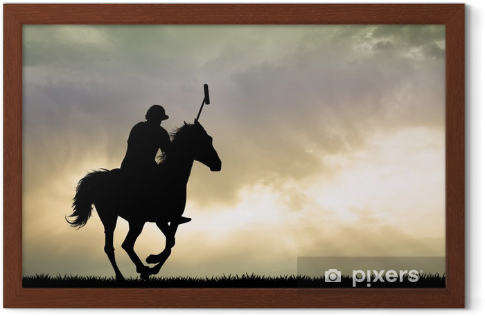 polo players on horses Framed Picture - Individual Sports
