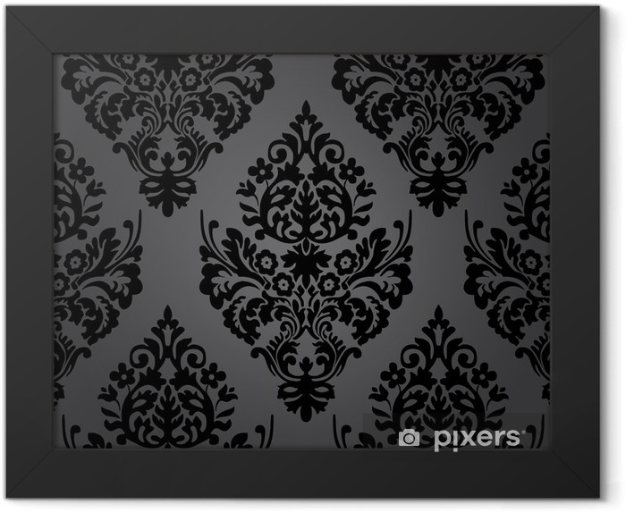 Damask pattern Framed Poster - Themes