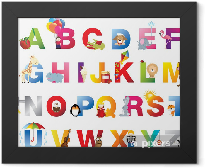 Complete childrens alphabet Framed Poster - Themes