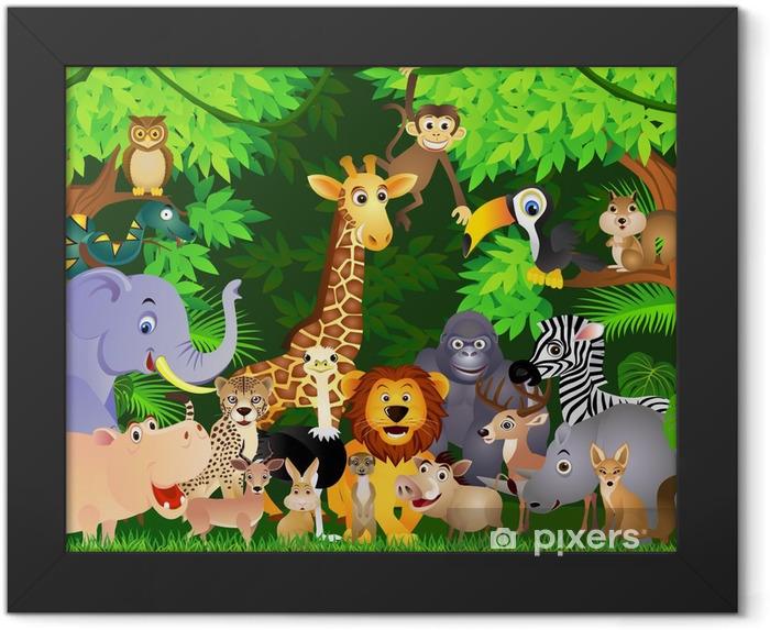 Poster en cadre Animal cartoon - Pour élève
