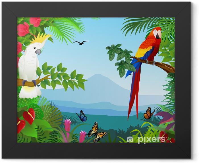 Plakat w ramie Ptak w pięknym lesie - Przeznaczenia