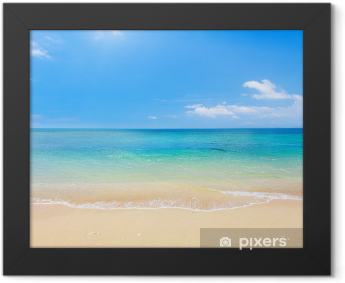 beach and tropical sea Framed Poster - Beach and tropics