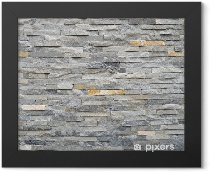 Stone wall texture background Framed Poster - Styles