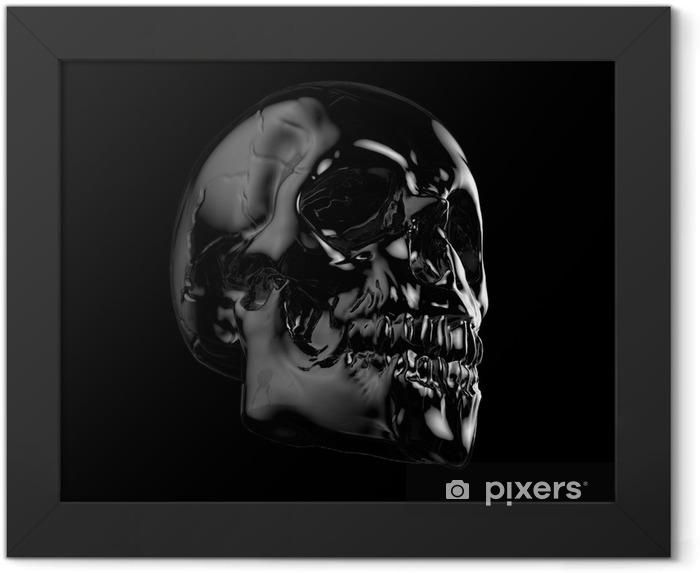 human skull Framed Poster - Other Feelings