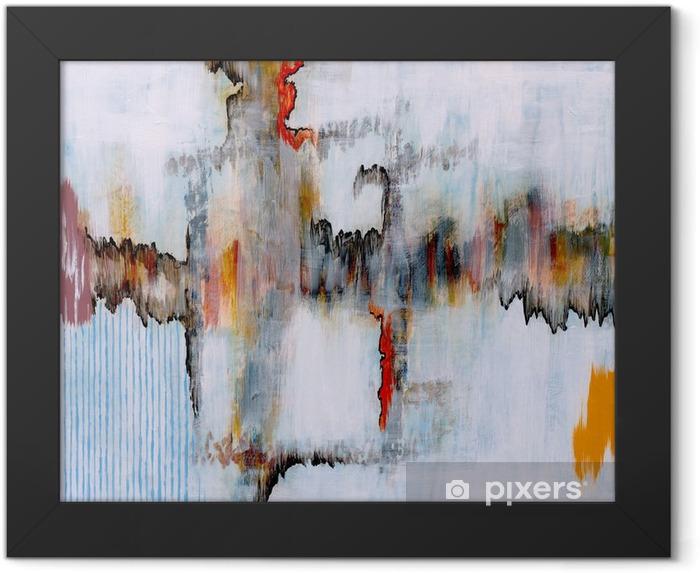 Plakat w ramie Malarstwo abstrakcyjne - Technologia