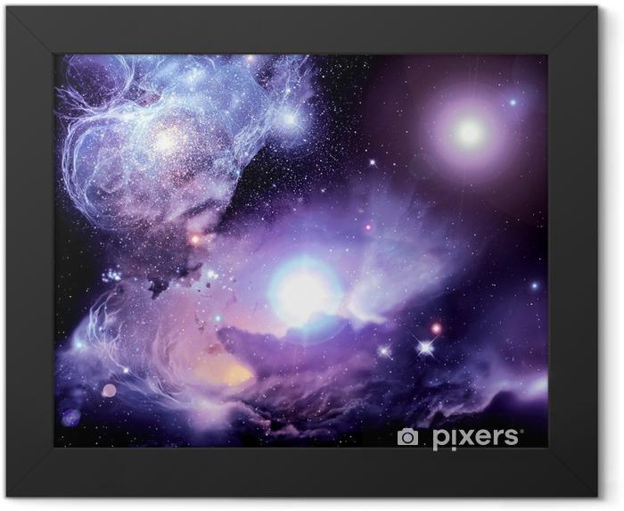 Fantasy Space Nebula Framed Poster - Universe