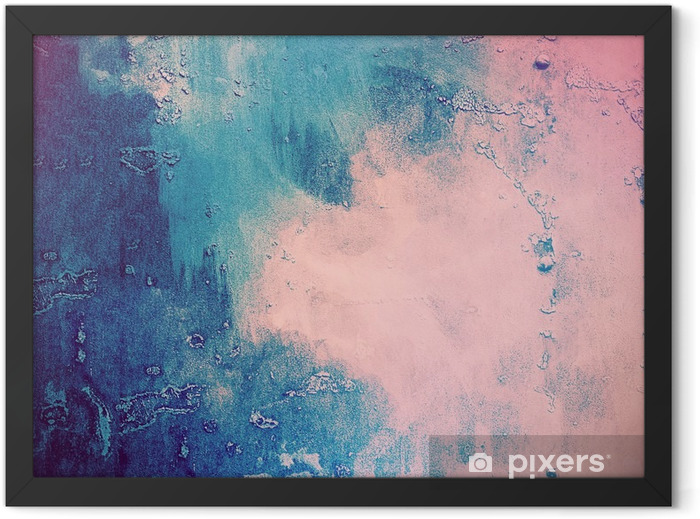 Pink and blue abstract background Framed Poster - Graphic Resources