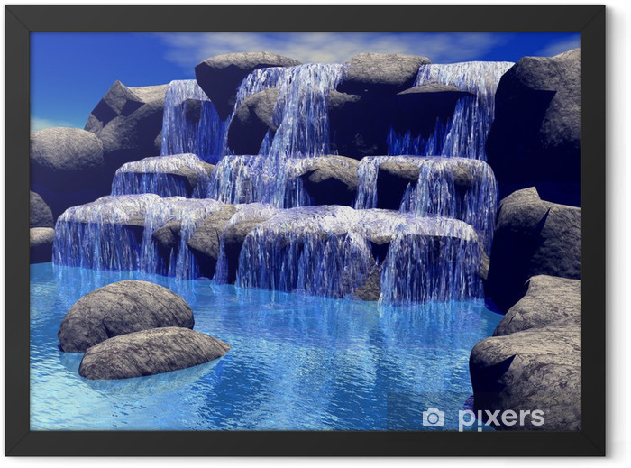 3d waterfall Framed Poster - Styles